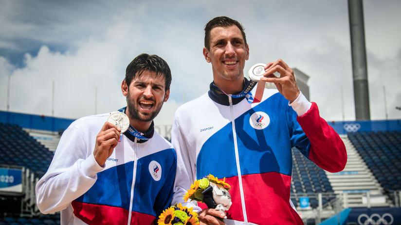 Tokyo 2020 silver medalists Viacheslav Krasilnikov and Oleg Stoyanovskiy