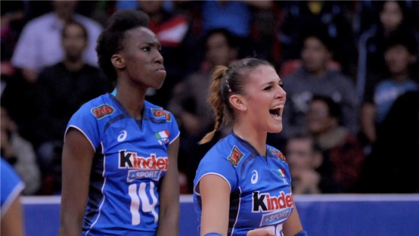 Egonu and setter Alessia Orro led Italy to win gold in 2015