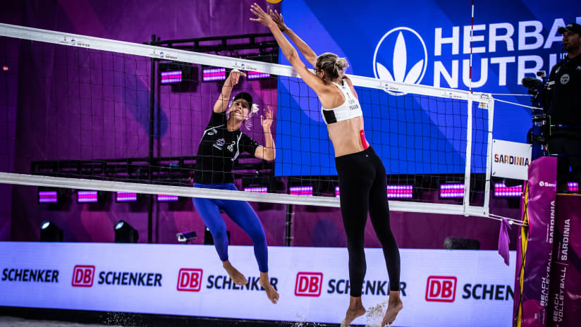 Karla Borger against Sarah Pavan in the final