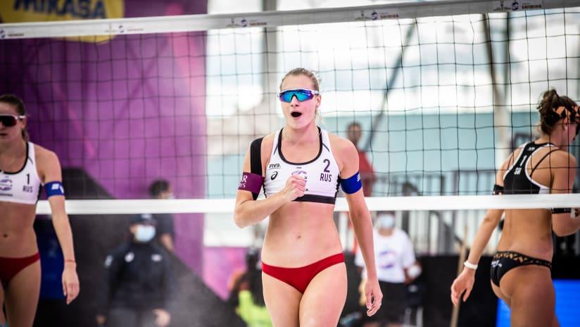 Svetlana Kholomina celebrates