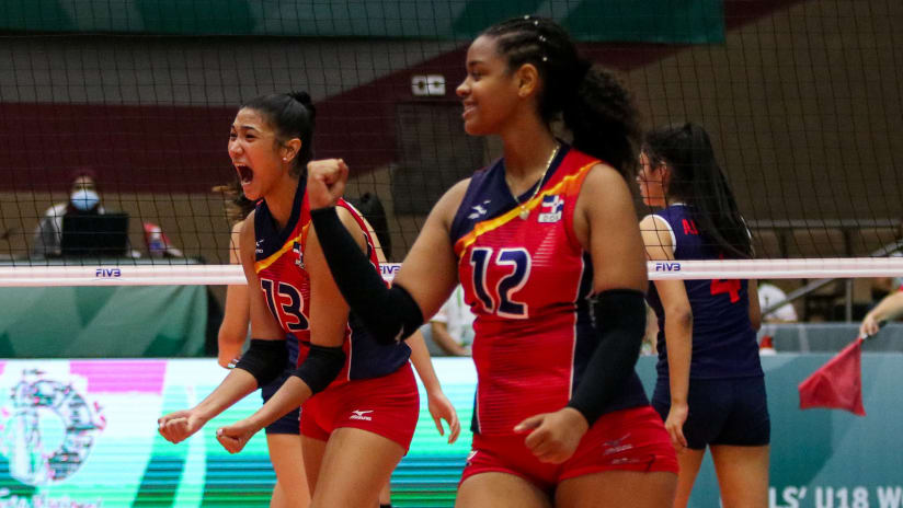 Rodriguez (13) celebrates one of her points in the match
