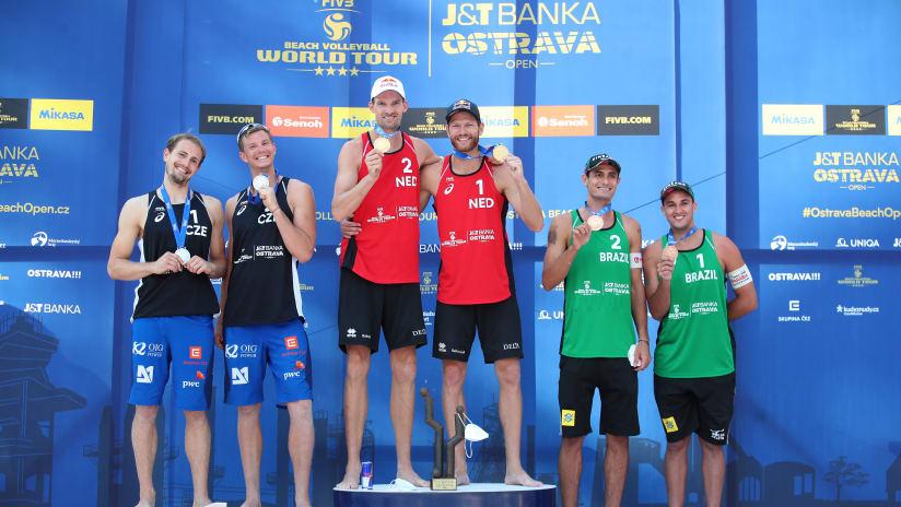 The men's podium in Ostrava