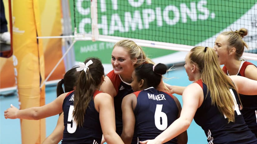 Team USA celebrating