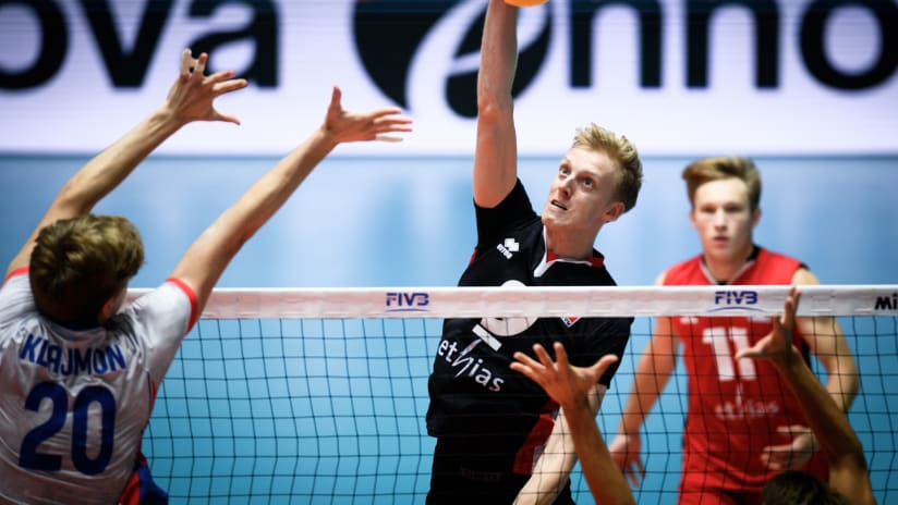 Wout D'Heer in the match against Czechia