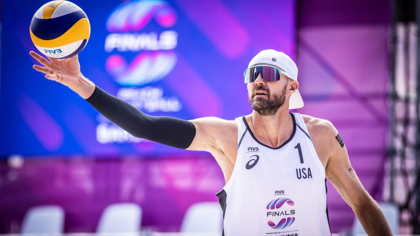 Jake Gibb in his last FIVB event