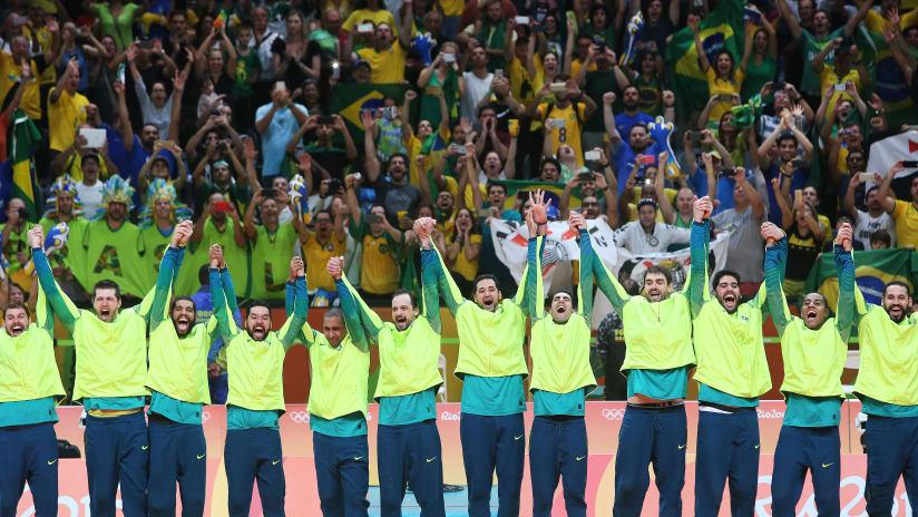 Brazilianteamcelebratestheirgoldmedal