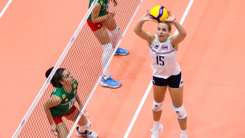 Simona is Slovakia's starting setter in the tournament