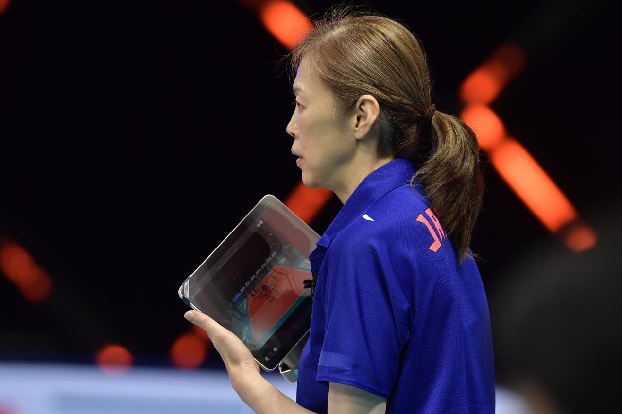 Japan head coach Kumi Nakada