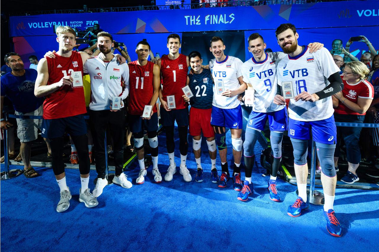 USA's Max Holt, Micah Christenson, Matt Anderson and Erik Shoji are part of the VNL's Dream Team