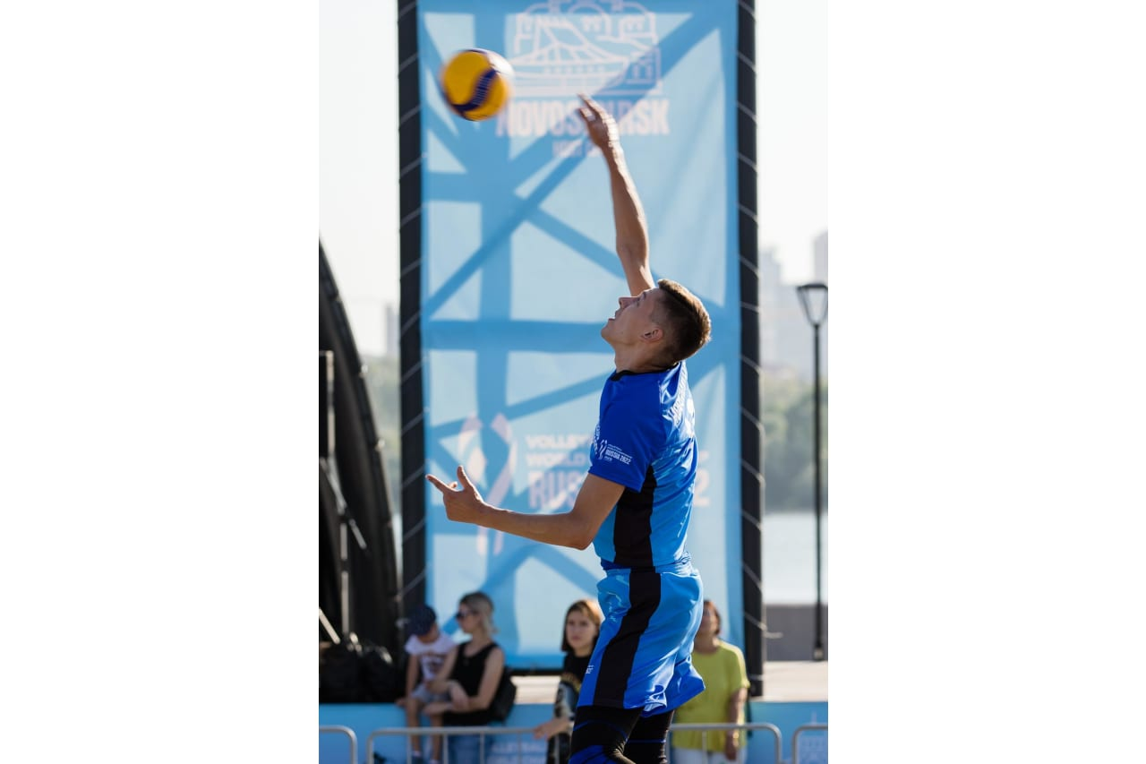Playing volleyball in Novosibirsk
