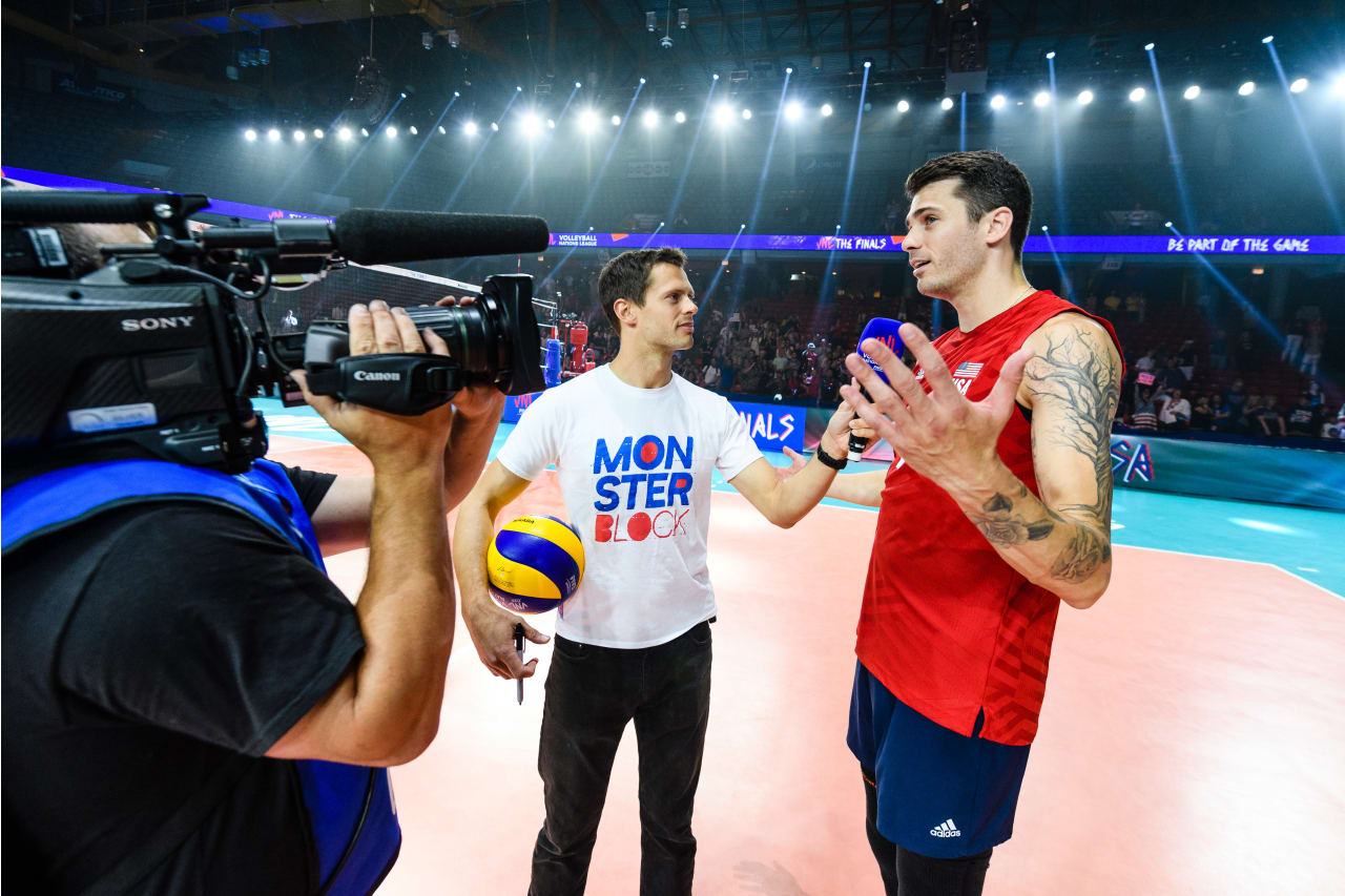 TV interview with Matthew Anderson (USA)
