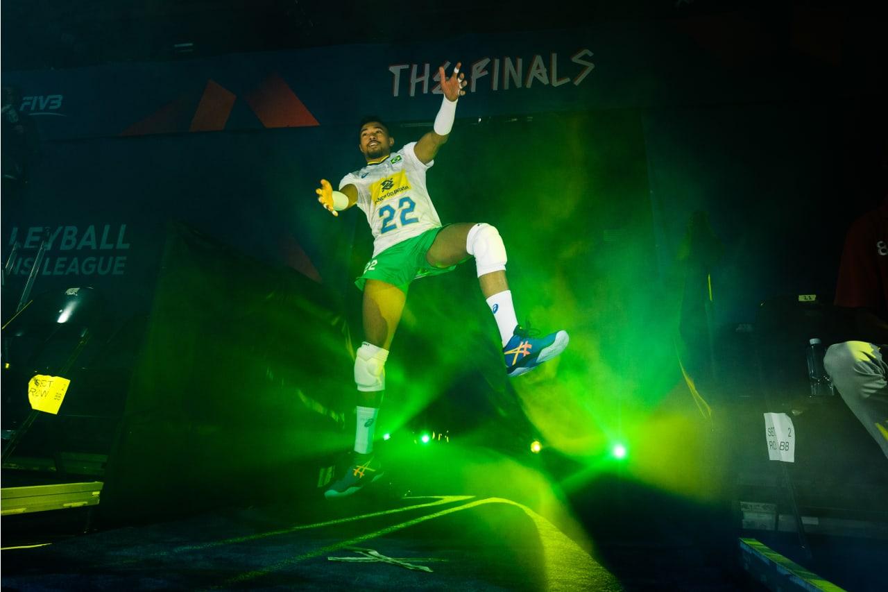 Brazil's Maique Nascimento enters the stadium for a match