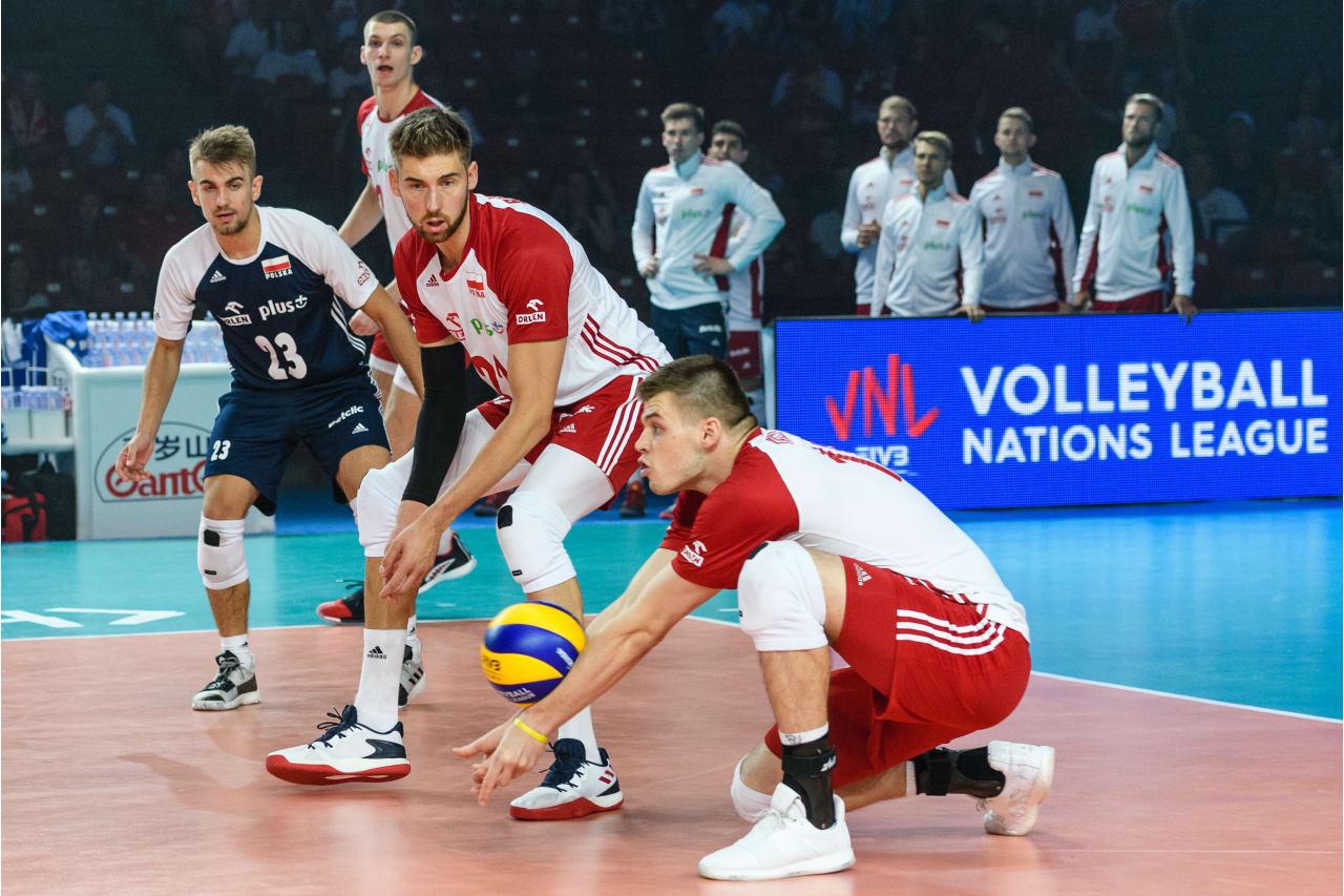 Poland's Bartosz Kwolek receives the ball
