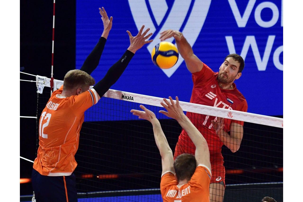 Maxim Mikhaylov (RUS) in action