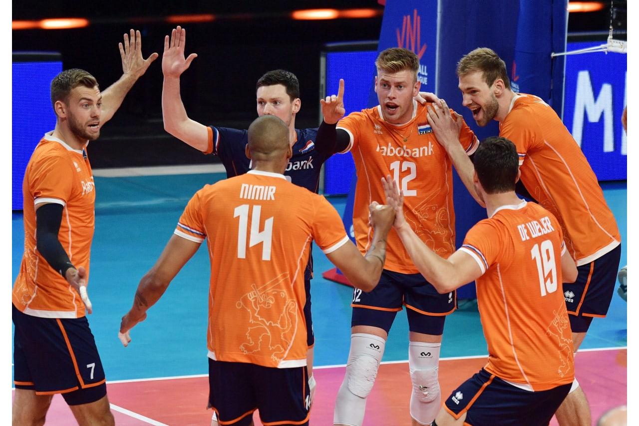 The Netherlands celebrate a point