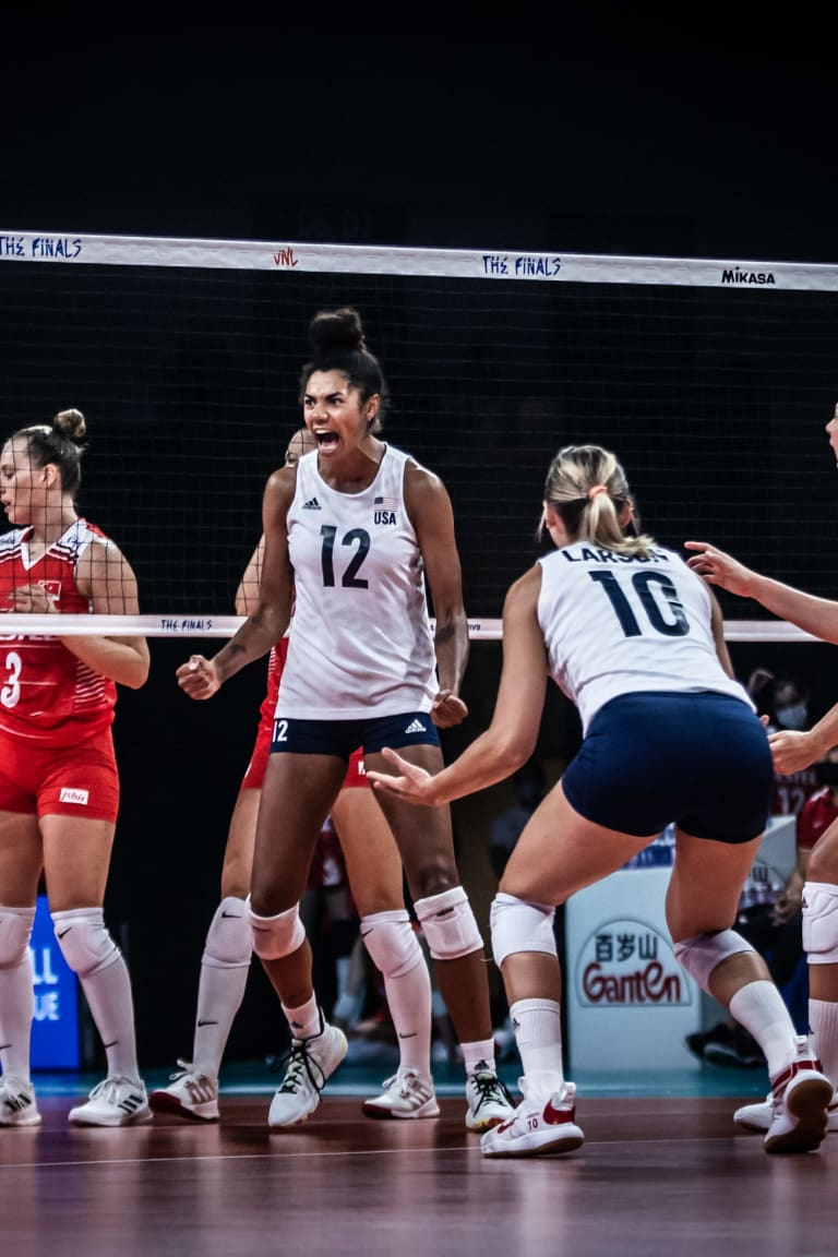 USA charge into Women's VNL final with sweep of Turkey