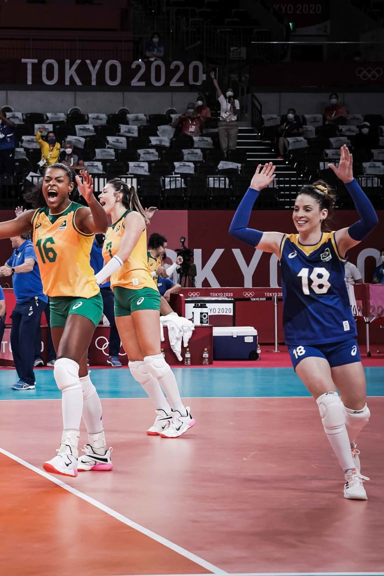 Brazil celebrate a point
