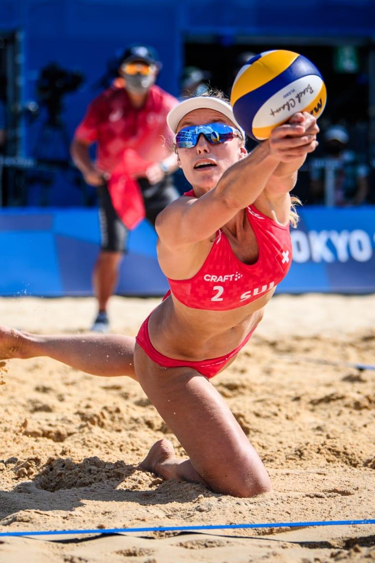 Nina Betschart in action