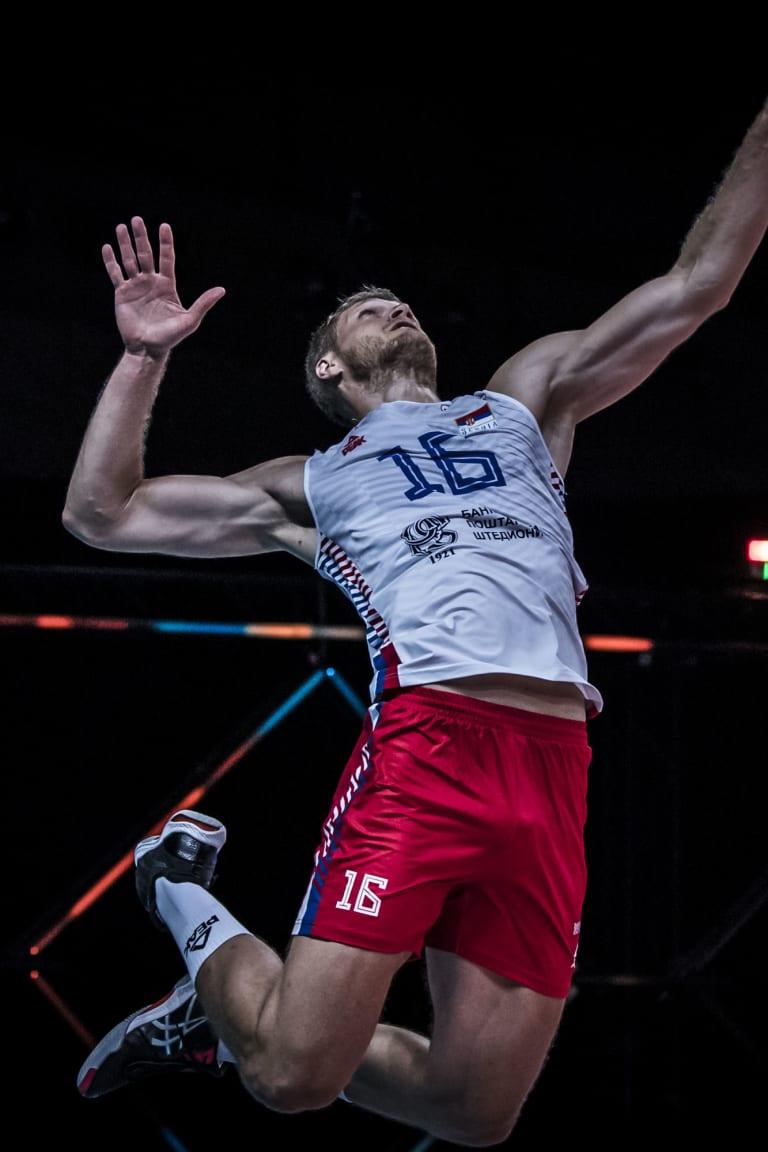 Drazen Luburic bangs 33 against Netherlands for fourth '30+' in men's VNL
