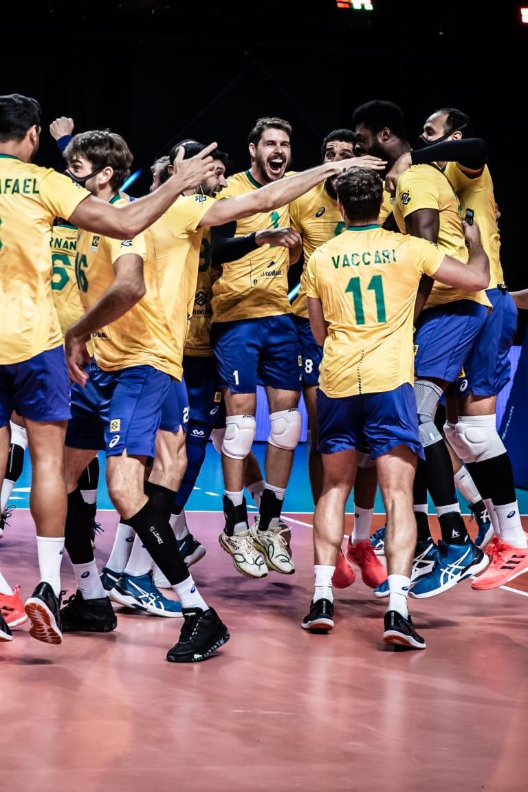 Brasil conquista la VNL masculina con una increíble victoria sobre Polonia en la final