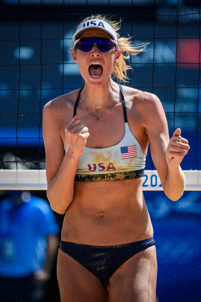 Alix Klineman makes Olympic debut a winning one